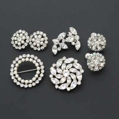 Rhinestone, Foilbacks and Glass Jewelry Featuring Weiss and B. David