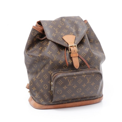 Louis Vuitton Paris Montsouris MM Backpack Bag in Monogram Canvas and Leather