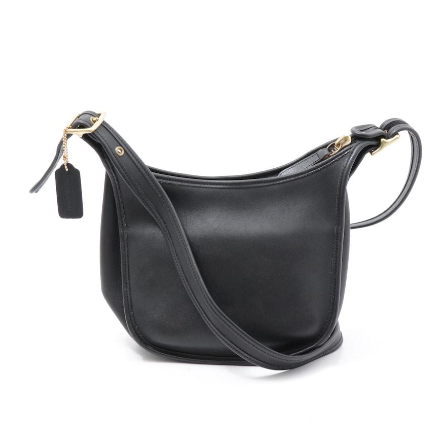 Coach Legacy Janice Black Leather Shoulder Bag, Vintage
