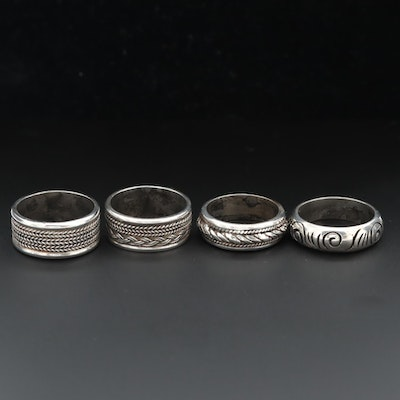 Sterling Silver Rings with Braided Motifs