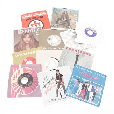Carly Simon, Foreigner, Rick Springfield and Other 45 RPM Vinyl Records