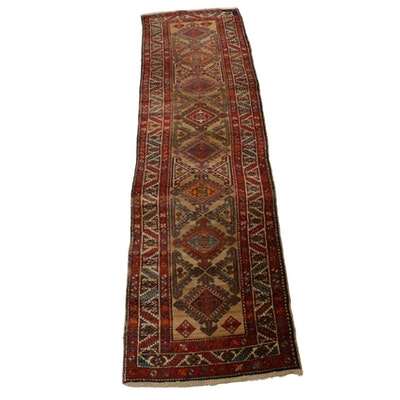 2'11 x 11'6 Hand-Knotted Persian Serab Carpet Runner, 1920s