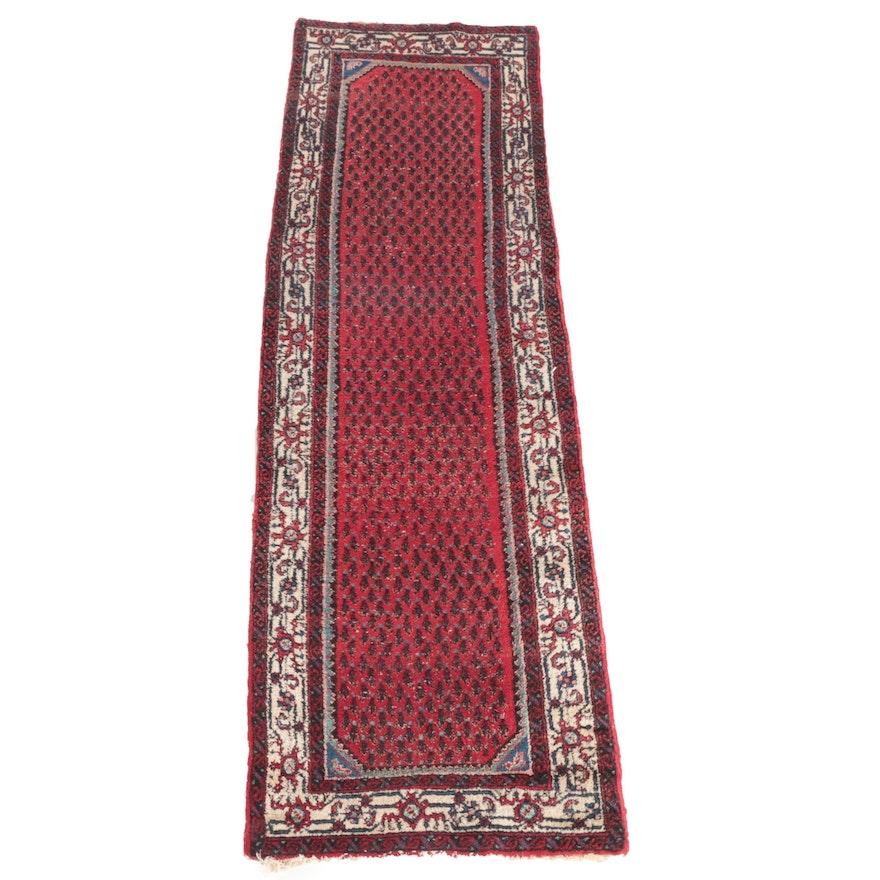 2'11 x 10'0 Hand-Knotted Persian Seraband Boteh Wool Carpet Runner