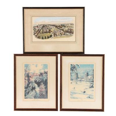 Cornell University Themed Photomechanical Prints