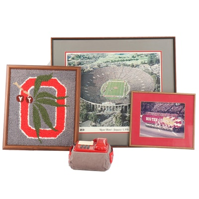 """Ohio State NCAA Collectibles Including """"Buckeyes"""" Push Tone Telephone"""