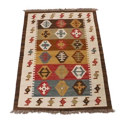 4'8 x 6'10 Hand-Woven Turkish Kilim Rug