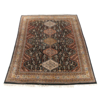 9'1 x 12'7 Hand Knotted Persian Afshar Wool Rug