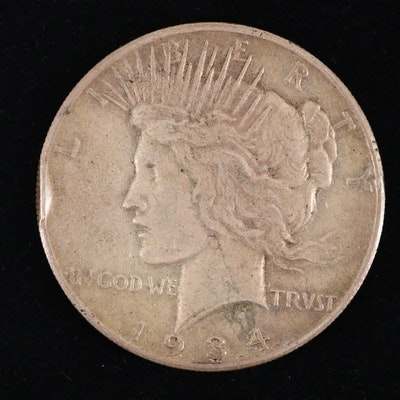 Key Date 1934-S Silver Peace Dollar