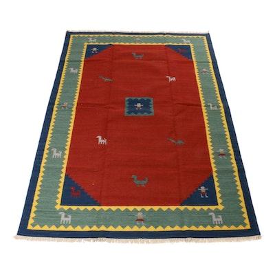 6'7 x 10'0 Hand-Woven Gabbeh Kilim Rug