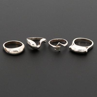 Sterling Silver Freeform Rings