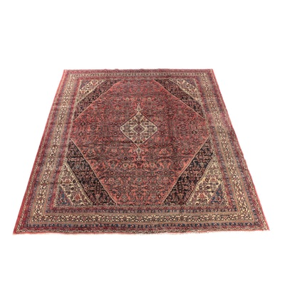 10'9 x 13'7 Hand-Knotted Persian Malayer Wool Room Sized Rug