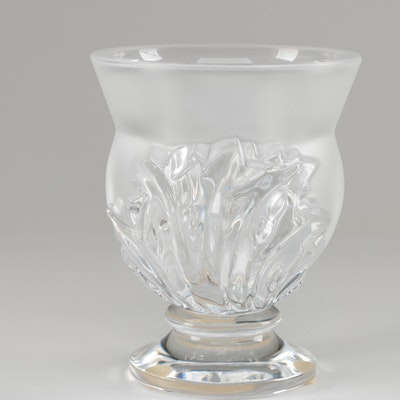 "Lalique ""St. Cloud"" Frosted Crystal Vase"