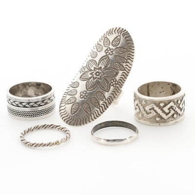 Sterling Silver Bands and Pointer Rings