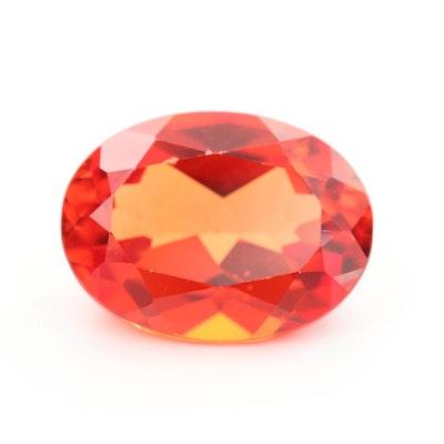Loose 11.90 CT Orange Sapphire