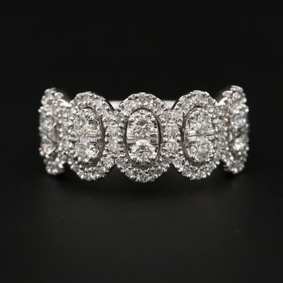 14K White Gold 1.09 CTW Diamond Ring