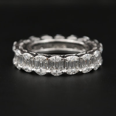 18K White Gold 3.22 CTW Diamond Eternity Band