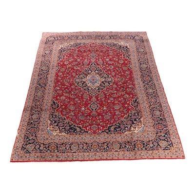 9'8 x 13'2 Hand-Knotted Persian Meshed Room Sized Wool Rug