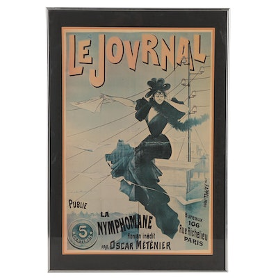 """Le Journal"" Offset Lithograph Reproduction Poster"