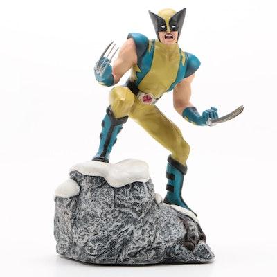 "Corgi Hand-Painted Metal ""Wolverine"" Statue From Marvel Heroes Series"