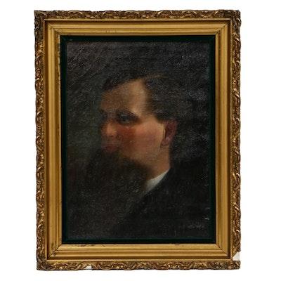 19th Century Male Portrait Oil Painting