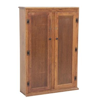Oak Gun Cabinet with Keys