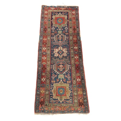 3'0 x 8'11 Hand-Knotted Caucasian Kazak Wool Carpet Runner