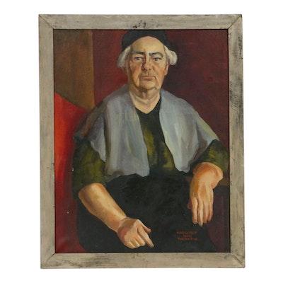 Margaret Jane Thornton Portrait Oil Painting