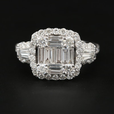 18K White Gold 1.83 CTW Diamond Ring