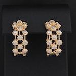 Aya Azrielant 18K Yellow Gold Diamond Hoop Earrings
