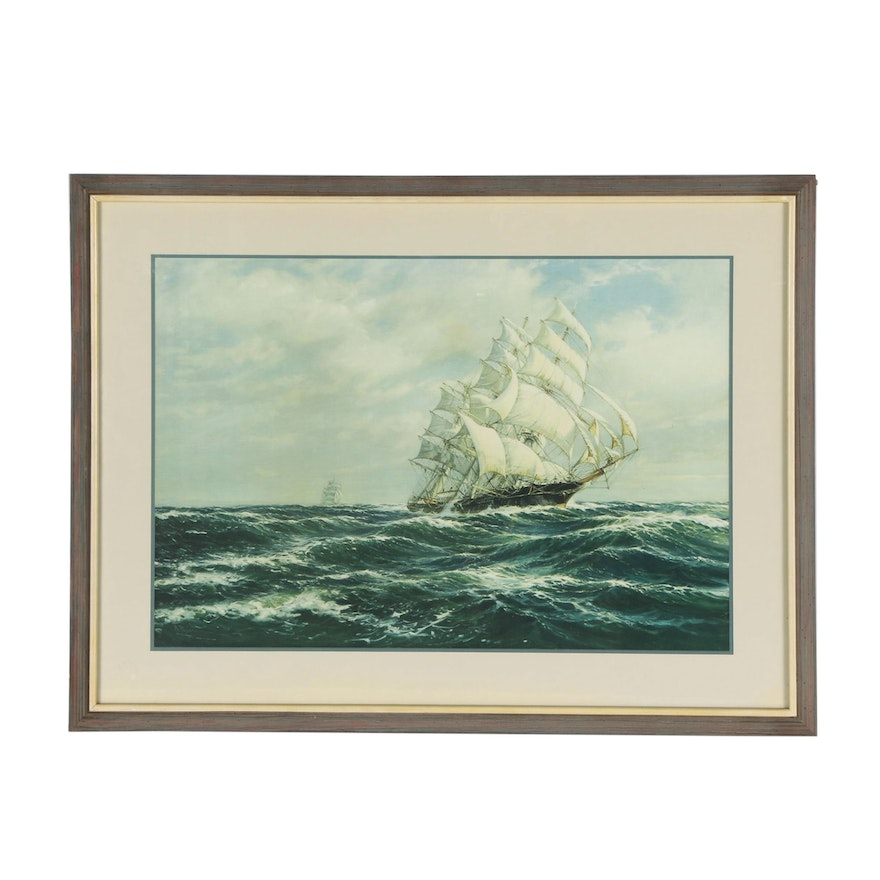 Offset Lithograph after Roy David Macgregor of Sailing Ship