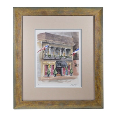 "Jennifer Fellinger Offset Lithograph ""Maisonette Restaurant"""