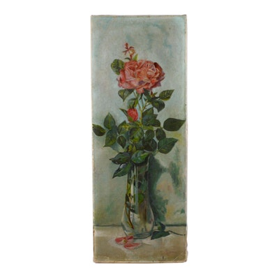 Early 20th Century Floral Oil Painting