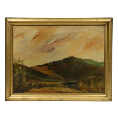 Late 19th/Early 20th Century Impressionist Landscape Oil Painting