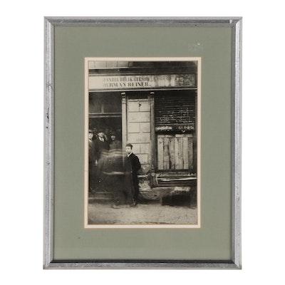 Silver Gelatin Photograph of Polish Delicatessen, Mid 20th Century