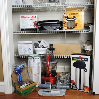 Small Kitchen Appliances with KitchenAid, Cuisinart Food Processor, Accessories