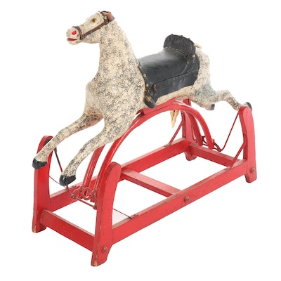 Victorian Child's Rocking Horse Toy, Late 19th-Century