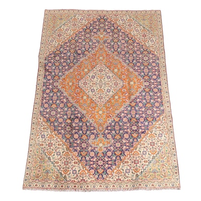 4'10 x 7'10 Hand-Knotted Persian Malayer Wool Rug