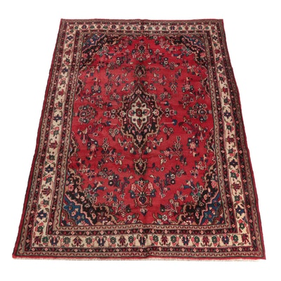 6'11 x 10'10 Hand-Knotted Persian Mehriban Wool Rug