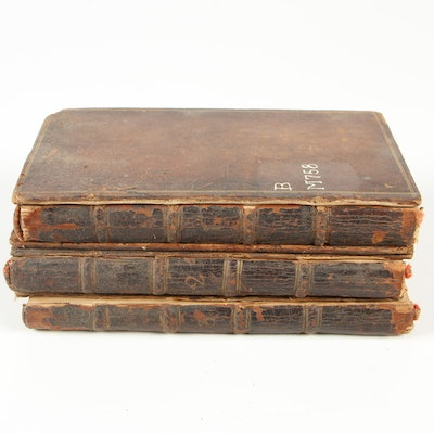 "1763 ""Letters of the Right Honourable Lady Mary Wortley Montagu"" Volumes I-III"