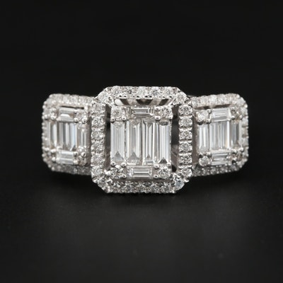 18K White Gold 1.23 CTW Diamond Ring