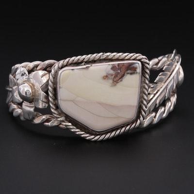 Southwestern Style Bill Kirkham Jasper Cuff Bracelet