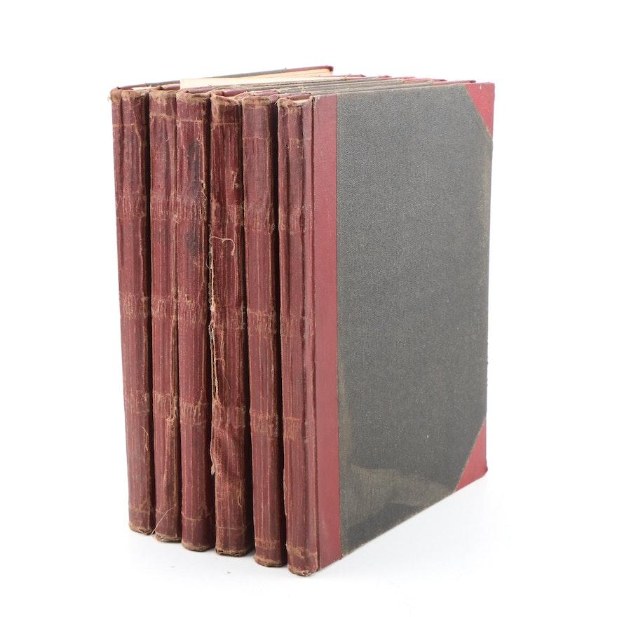 "1916-1917 ""Leslie's Illustrated Weekly Newspaper"" Six Bound Volumes"