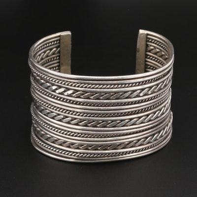 Michael Tahe Navajo Diné Sterling Silver Cuff Bracelet
