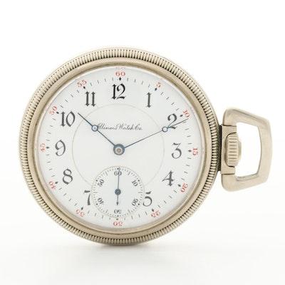 Antique Illinois Side Winder Pocket Watch, 1906