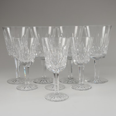 """Waterford Crystal """"Lismore"""" Water Goblets and White Wine Glasses"""