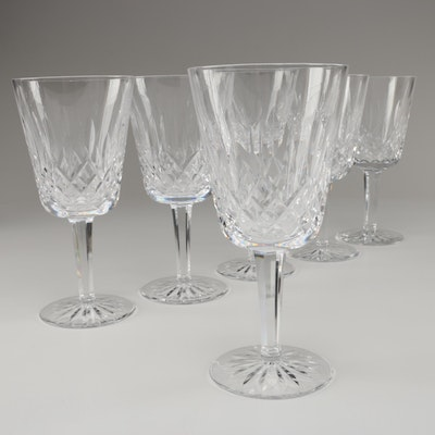 """Waterford Crystal """"Lismore"""" Water Goblets, Late 20th Century"""