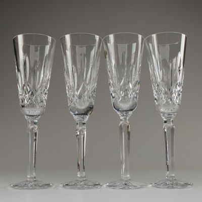 """Waterford Crystal """"Lismore"""" Tall Champagne Flutes, Late 20th/Early 21st Century"""