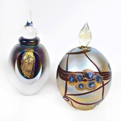 Eickholt Art Glass Perfume Bottles, Late 20th Century