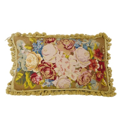 Chelsea Textiles Needlepoint Accent Pillow