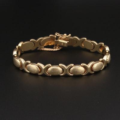 14K Yellow Gold Stampato Bracelet